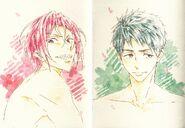 ES postcard rin & sousuke