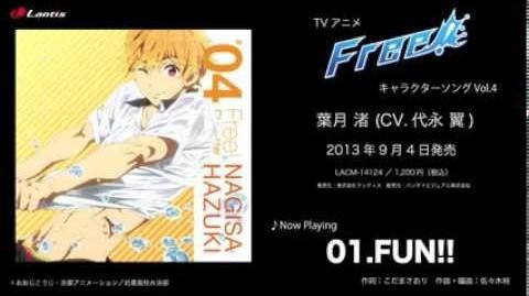 TVアニメ『Free!』キャラクターソングVol.4 葉月 渚 (CV.代永 翼) 試聴動画