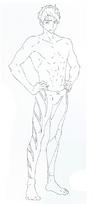 Sosuke Yamazaki full body sketch