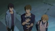 Haruka, Makoto et Nagisa dans l'ancien club