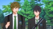 Haruka et makoto vont a l'école