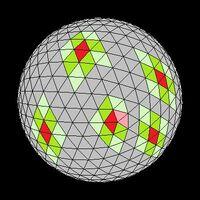 Icosahedron neighbors colored tilt
