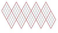 Icosahedron net tiled