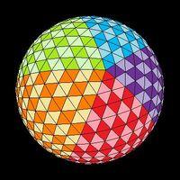 Icosahedron colored