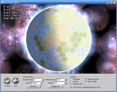Hex planet demo by joel davis