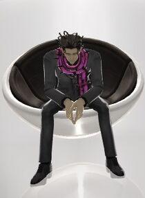 Simeon sitting