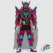 Kamen rider rogue royale v2 by mr memerald dcwfbjs-pre