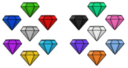 The chaos emeralds all colors by sarahdefroggo225 db6mwad-pre