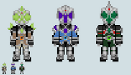 Chibi rider sprite mage trio custom versions by malunis-d6jufb0