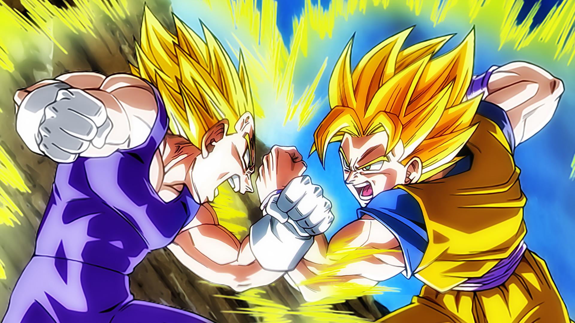 56333 Dragon Ball Z Goku Super Saiyan Vs Vegeta