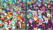 Canterlot High Students and Cyrstal Prep Students