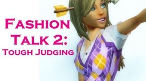 FreeRealms~Fashion Talk 2 Tough Judging