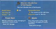 Warrior's Double Axe of Earthquake item