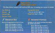New School Elemental Procedure item
