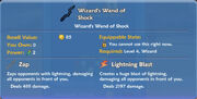 Wizard's Wand of Shock item