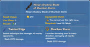Ninja's Shadow Blade of Shuriken Storm item