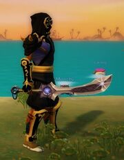 Flying Dragon Sword held