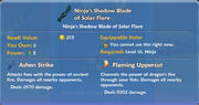 Ninja's Shadow Blade of Solar Flare item