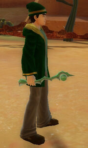 Wizard's Jewel Wand of Shock held