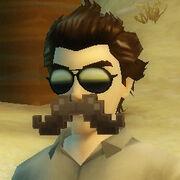 8bit moustache