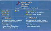 Warrior's Battle Hammer of Whirlwind item