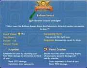 Balloon Sword shop item