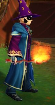 Fiery Wand held