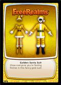 Golden santa suit card