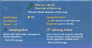Warrior's Battle Hammer of Spinning item