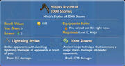 Ninja's Scythe of 1000 Storms item