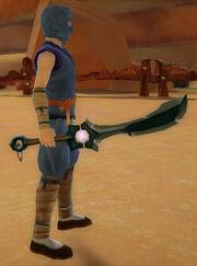 Ninja's Shadow Blade of Solar Flare held