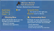 Warrior's Warlord Axe of Command item