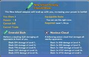 New School Flowing Emerald Blade item