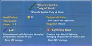 Wizard's Sparkle Twig of Shock item