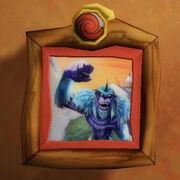 Angry yeti painting