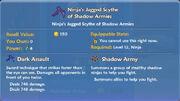 Ninja's Jagged Scythe of Shadow Armies item