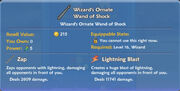 Wizard's Ornate Wand of Shock item