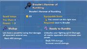 Brawler's Hammer of Rumbling item
