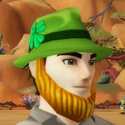 Luckys green hat