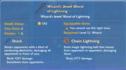 Wizard's Jewel Wand of Lightning item