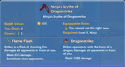 Ninja's Scythe of Dragonstrike item