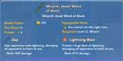 Wizard's Jewel Wand of Shock item