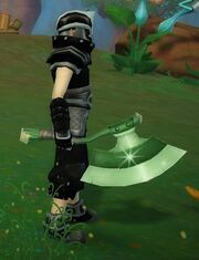 Spirited Protector Axe held