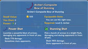Archer's Composite Bow of Stunning item