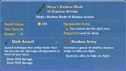 Ninja's Shadow Blade of Shadow Armies item