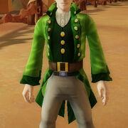 Luckys green jacket