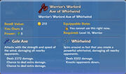 Warrior's Warlord Axe of Whirlwind item
