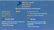 Warrior's Battle Hammer of Earthquake item