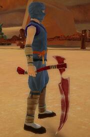Ninja's Scythe of Dragonstrike held