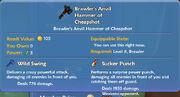 Brawler's Anvil Hammer of Cheapshot item